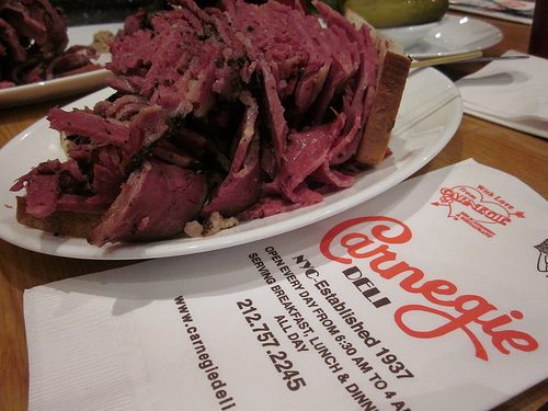 Carnegie Deli 854 7th Avenue, New York, NY10019 (212) 757-2245 ‎ www.carnegiedeli.com